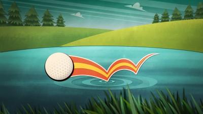 Golfer sur l'eau
