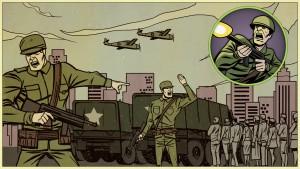 Soldat au rapport
