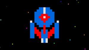 Vaisseau spatial bleu