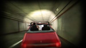 Cascade en voiture