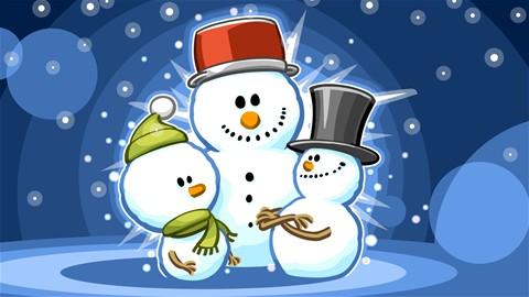 Équipe de bonshommes de neige