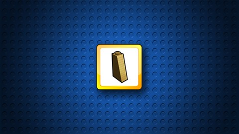 Brique en pente 1x2x3 légendaire