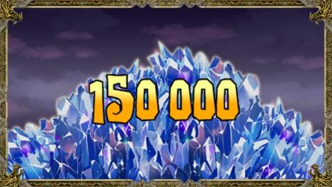 150000cristaux récupérés.