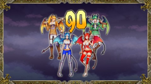 Tous les personnages au niveau90.