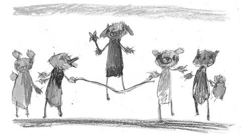 Des dessins d'enfant
