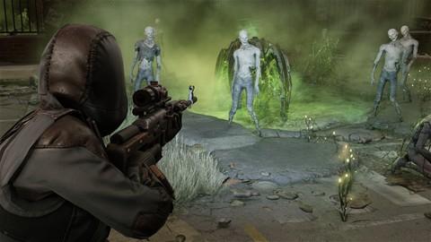Des zombies dans un couloir