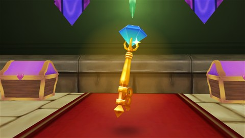 Blue gem key in the second arena