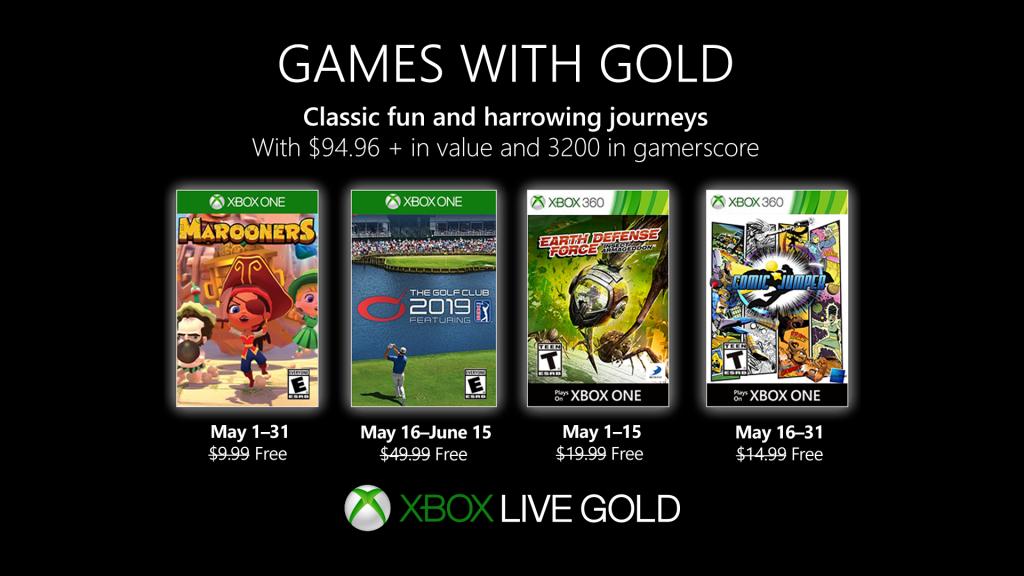 Games with Gold : les jeux de mai 2019