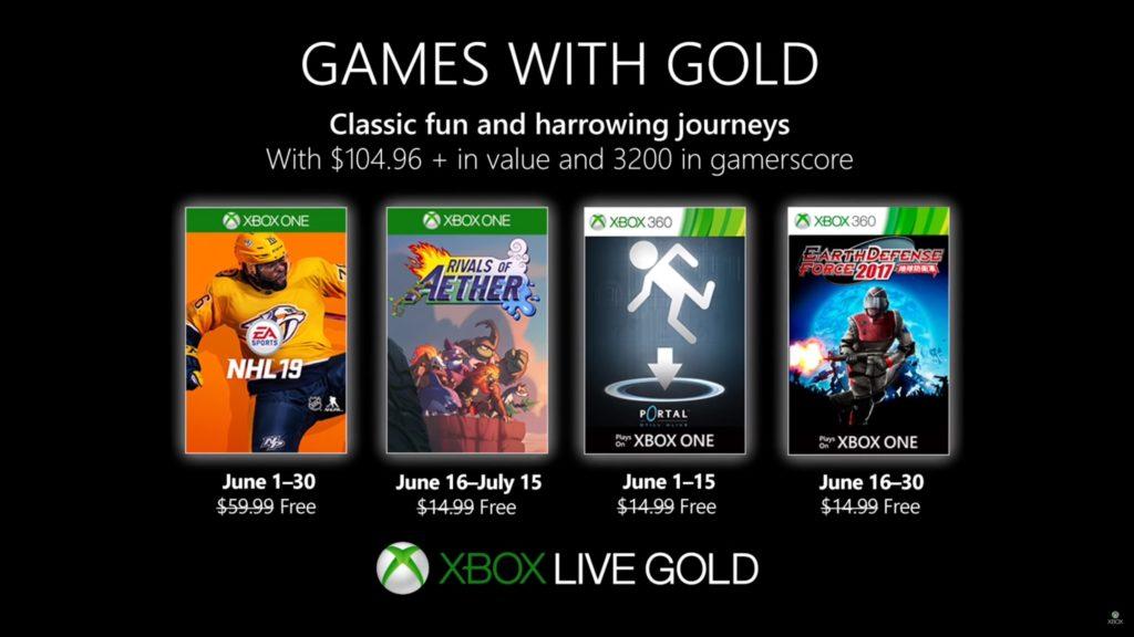 Games with Gold : les jeux de juin 2019