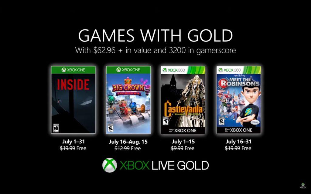 Games with Gold : les jeux de juillet 2019