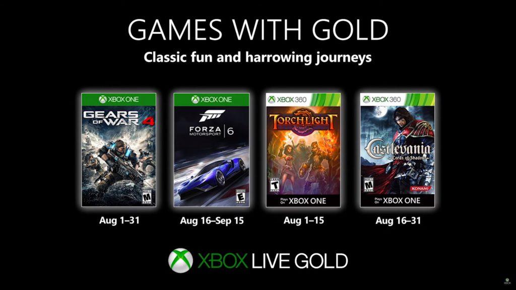 Games with Gold : les jeux d'août 2019