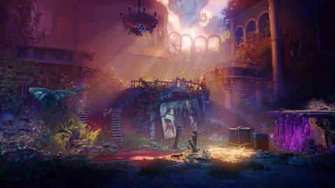 Course dans les ruines