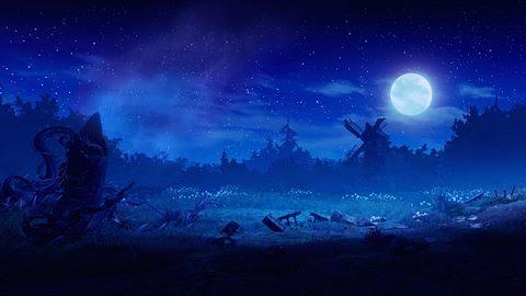 Des papillons sous la lune