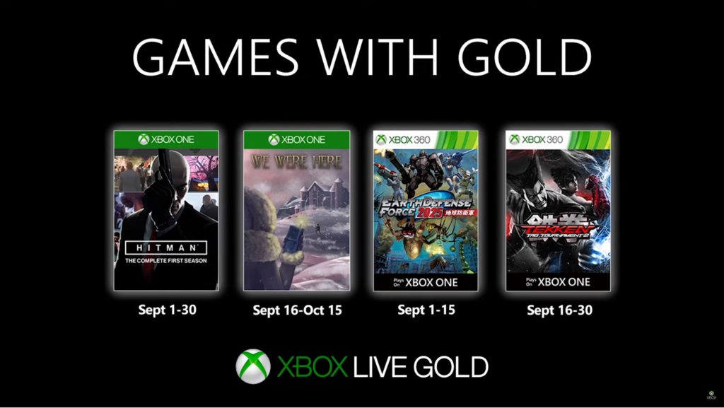 Games with Gold : les jeux de septembre 2019