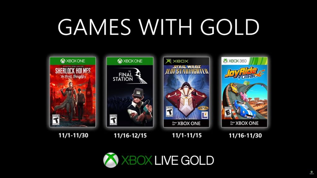 Games with Gold : les jeux de novembre 2019