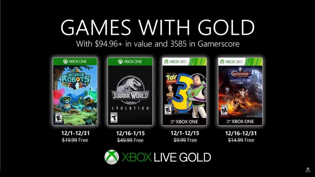 Games with Gold : les jeux de décembre 2019