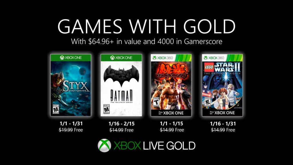 Games with Gold : les jeux de janvier 2020