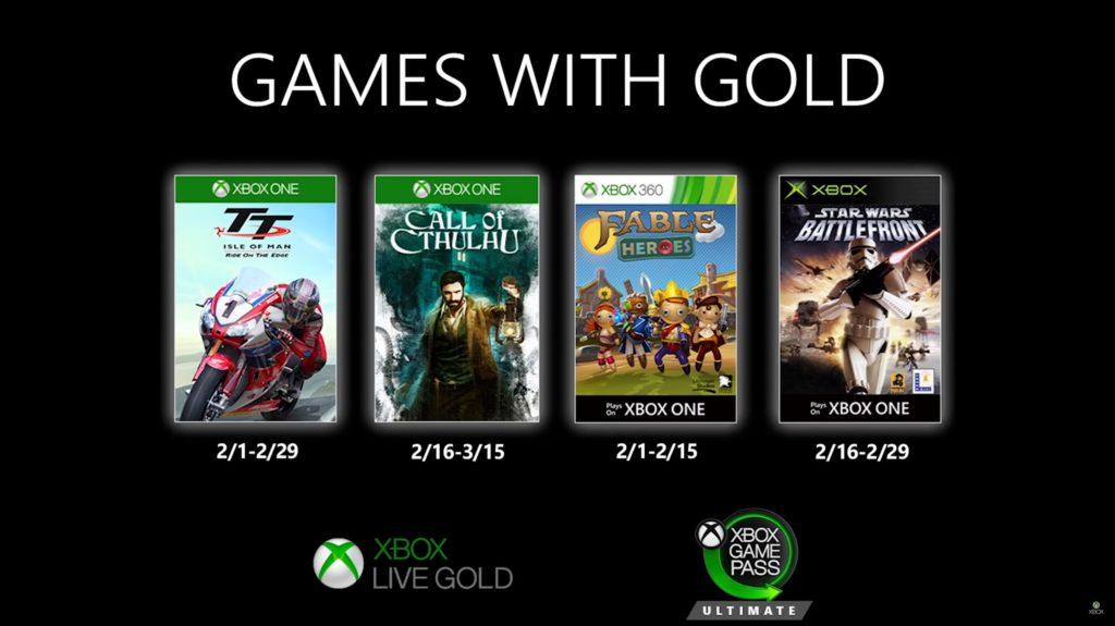 Games with Gold : les jeux de février 2020