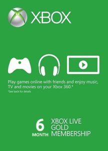 Abonnement Xbox Live Gold<br>6 mois