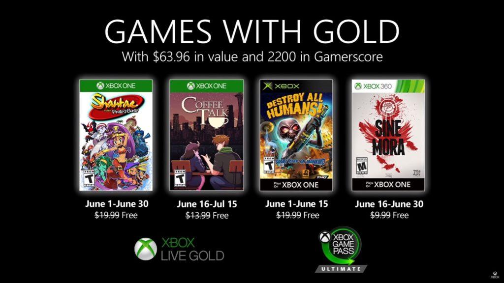 Games with Gold : les jeux de juin 2020
