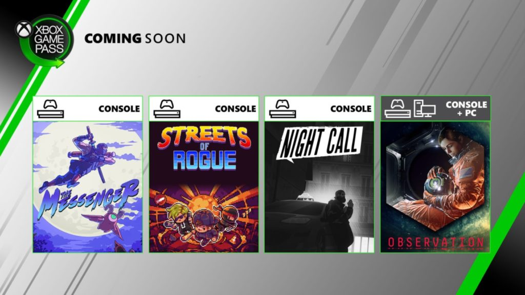 Night Call et trois nouveaux jeux intègrent le Xbox Game Pass