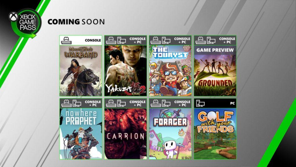 Yakuza Kiwami 2 et sept autres jeux arrivent dans le Xbox Game Pass
