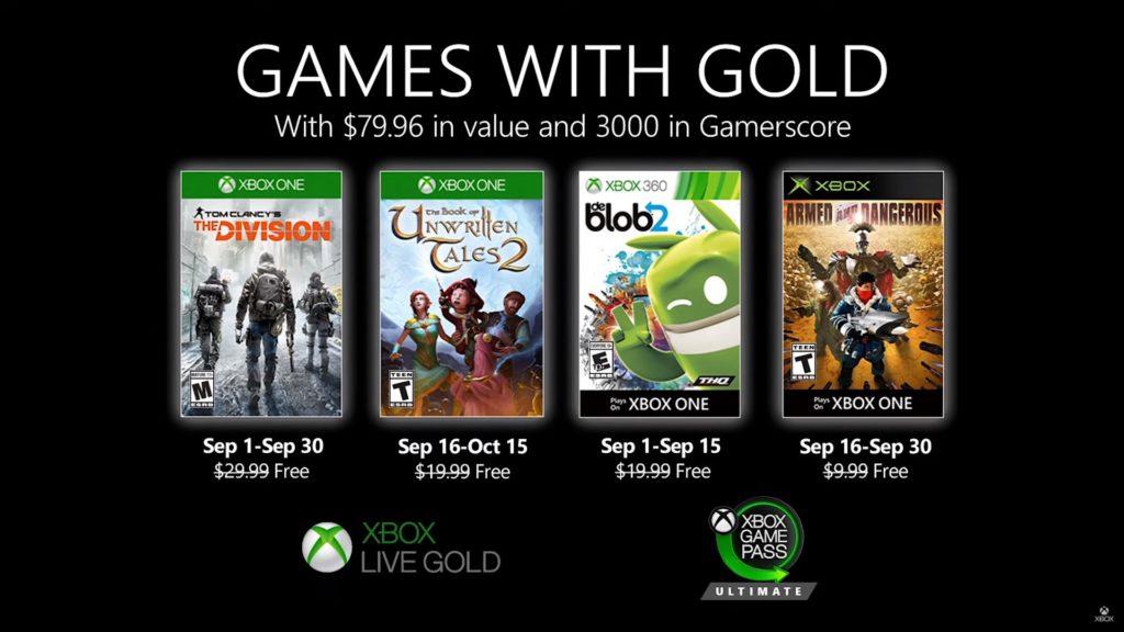 Games with Gold : les jeux de septembre 2020
