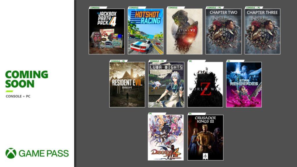 Une nouvelle salve de jeux pour le Xbox Game Pass en ce mois de septembre