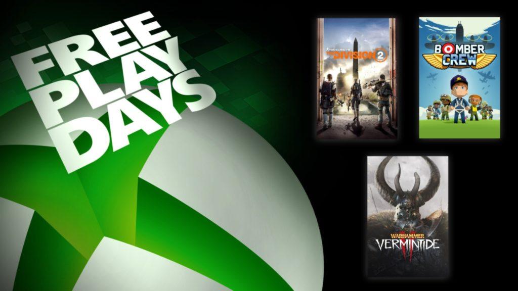 The Division 2 et deux autres jeux jouables grâce au Free Play Days