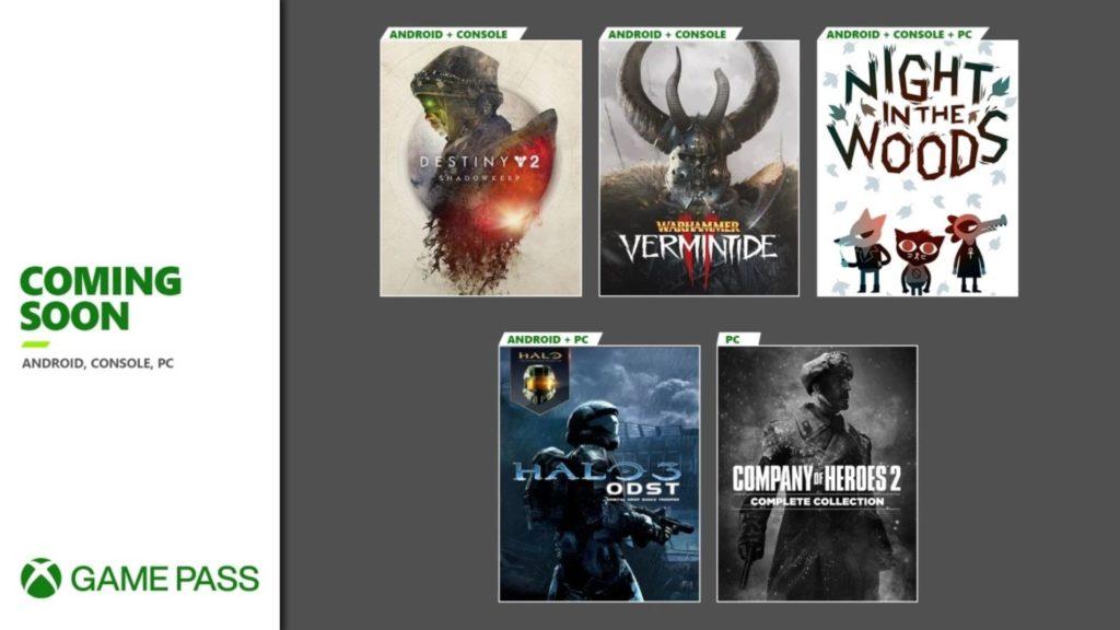 Arrivées et départs dans le Xbox Game Pass pour la fin septembre