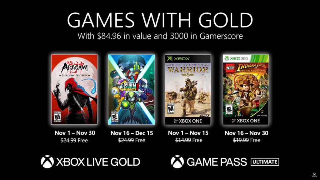 Games with Gold : les jeux de novembre 2020