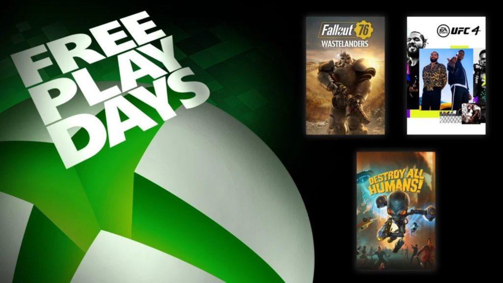 Fallout 76 et deux autres jeux au programme des Free Play Days