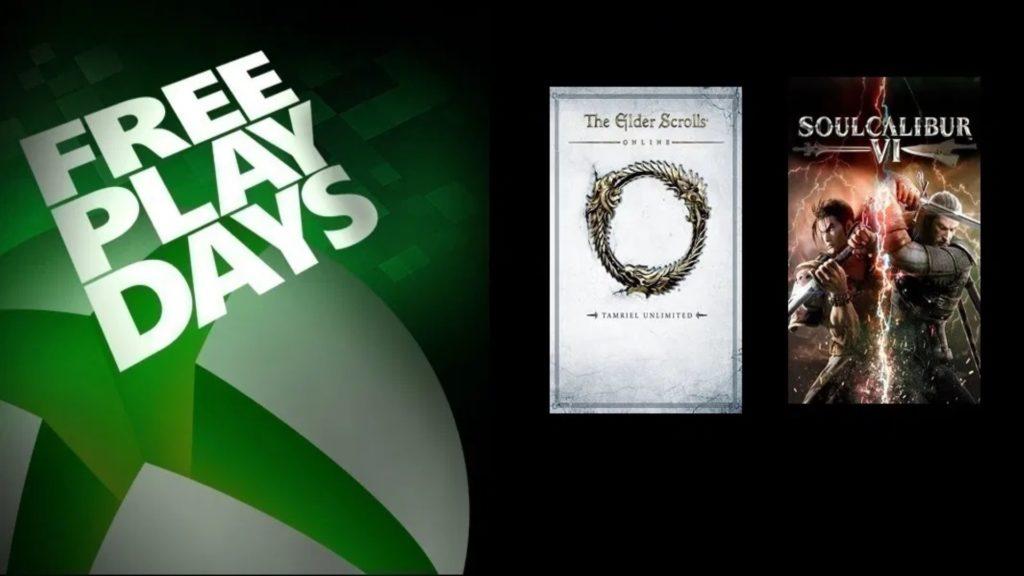 Free Play Days : Soul Calibur VI et The Elder Schrolls Online au programme