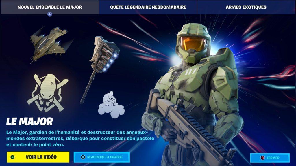 L'arrivée du Major dans Fornite présenté au Game Awards 2020