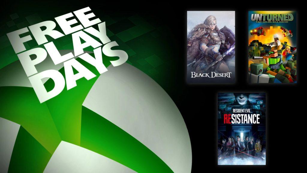 Trois jeux disponibles pour les Xbox Free Play Days
