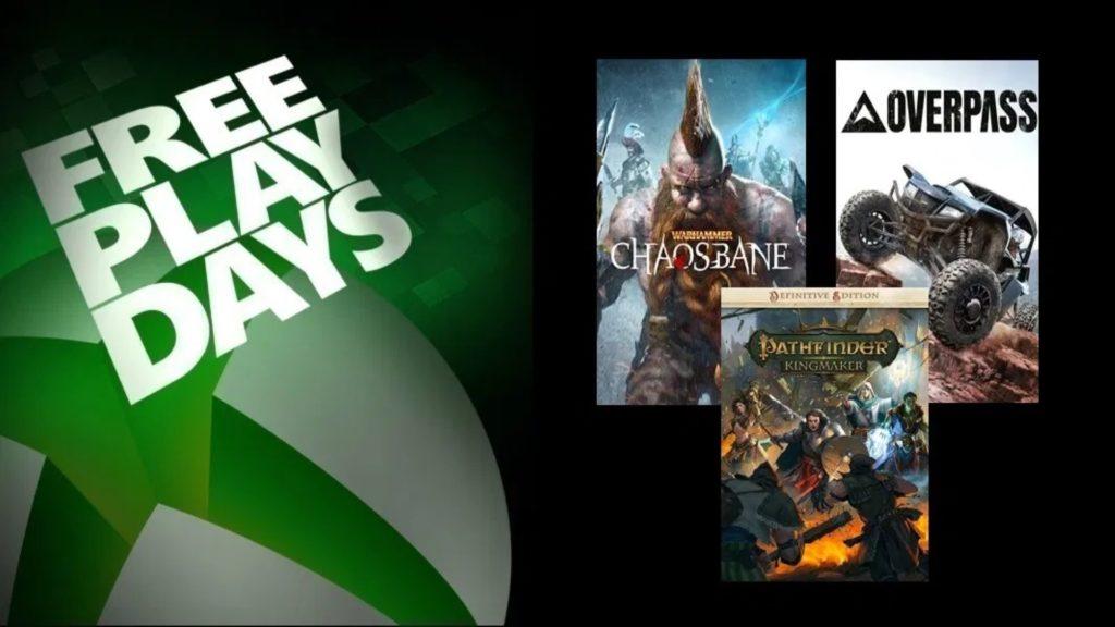 Trois jeux pour le premier Free Play Days de 2021
