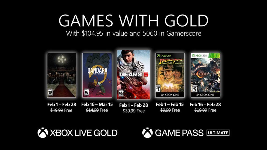 Games with Gold : les jeux de février 2021