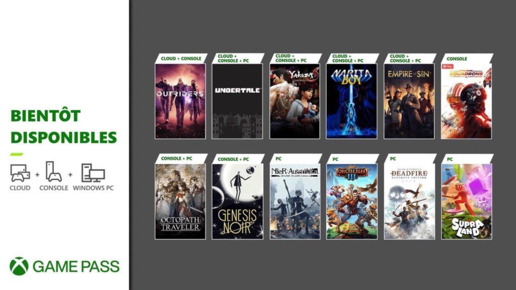 12 jeux seront bientôt disponibles dans le Xbox Game Pass