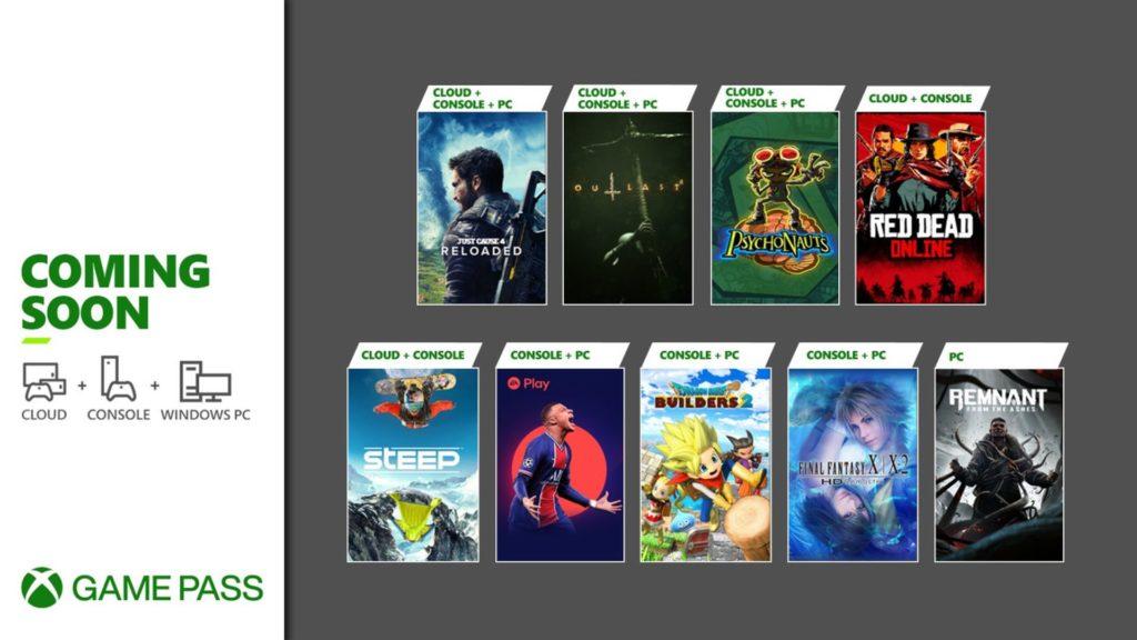 Neuf jeux prochainement jouables avec le Xbox Game Pass