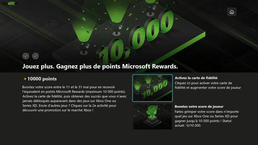 Microsoft Rewards mai 2021 : 10 000G pour 10 000 points Rewards