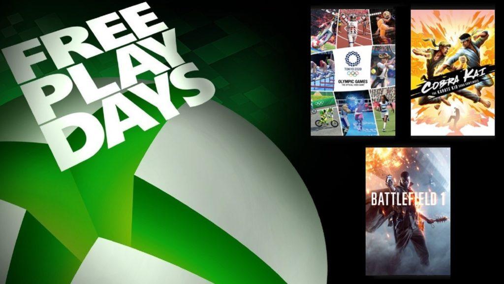 Les Free Play Days proposent Olympic Games Tokyo 2020, Battlefield 1 et Cobra Kai