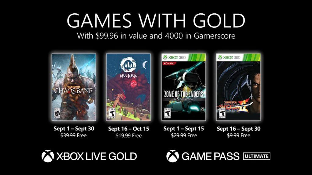 Games with Gold : les jeux de septembre 2021